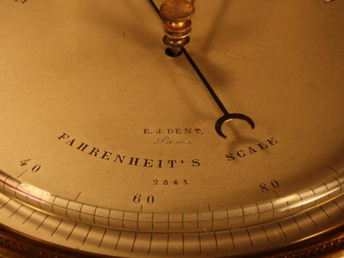 VERY EARLY DESK BAROMETER BY DENT No 2841 c1849