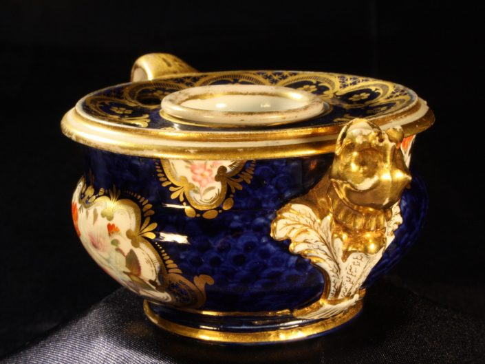 PORCELAIN INKWELL BY COALPORT c1815 - Sold