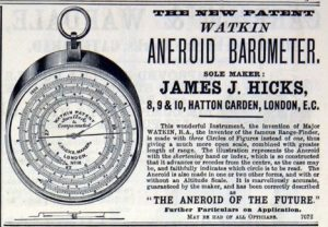 Watkin Patent Barometric Altimeter by Hicks