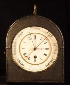 Image of Bourdon & Richard Clock-Barometer c1855
