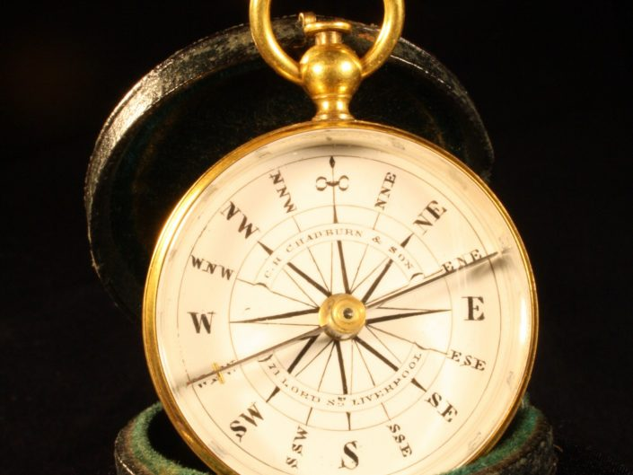 HAND BEARING COMPASS BY CHADBURN c1870 - Sold