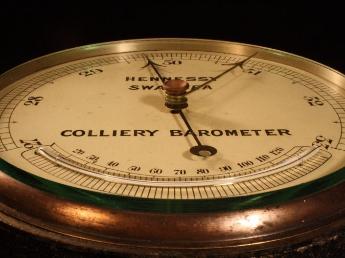 LARGE COLLIERY BAROMETER BY HENNESSY c1890 - Sold