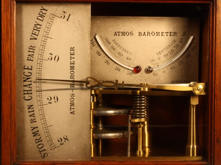 FRENCH ATMOS BAROMETER c1875
