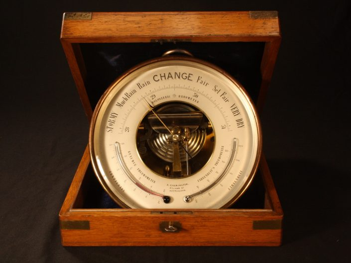 LARGE PRESENTATION BAROMETER BY NAUDET PERTUIS HULOT c1880