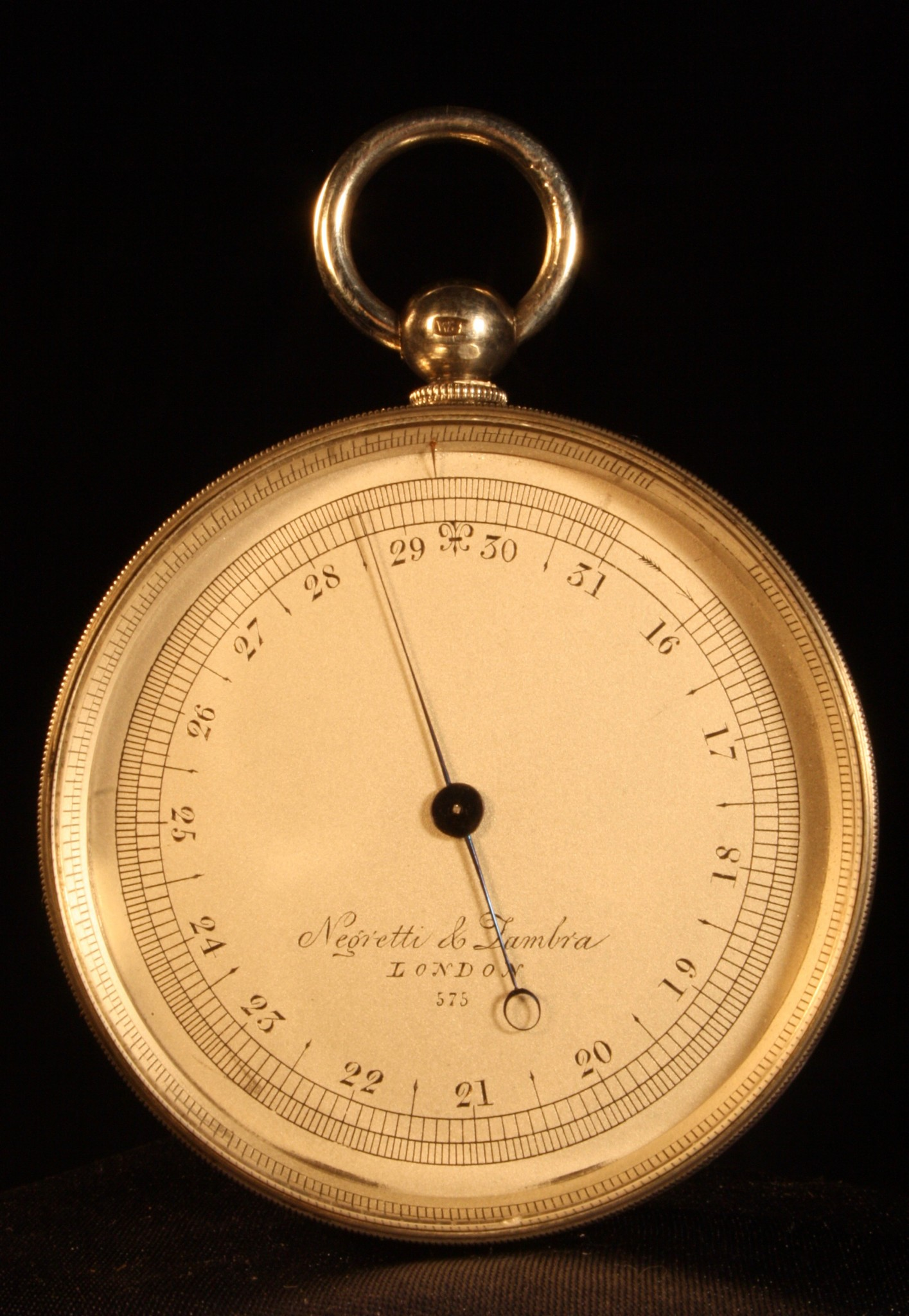 Image of Silver Pocket Barometer by Negretti & Zambra No 575