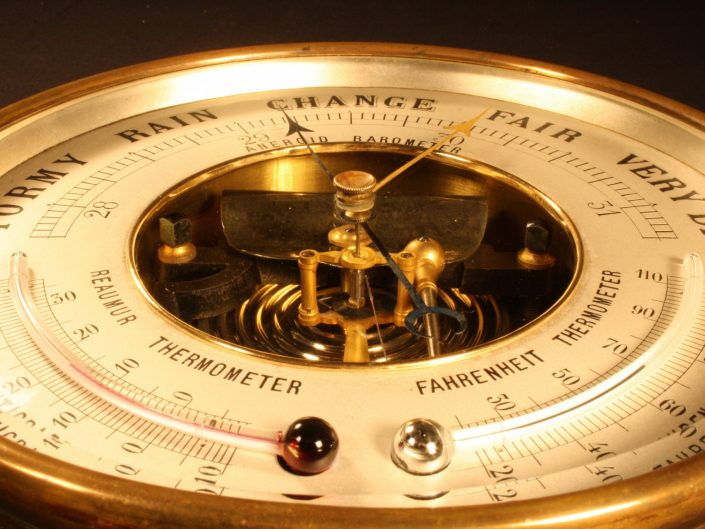 ROYAL NAVY PRESENTATION BAROMETER BY COOMBES c1895