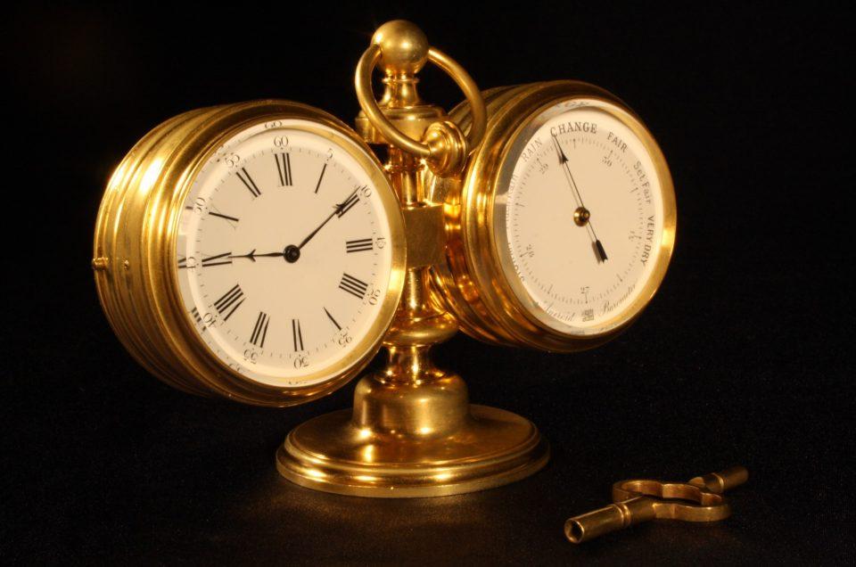 Barometer Amp Clock Desk Compendium By Antoine Redier C1870