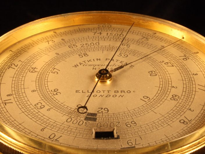 WATKIN PATENT EXTENDED SCALE BAROMETER ALTIMETER BY HICKS No 305 c1888
