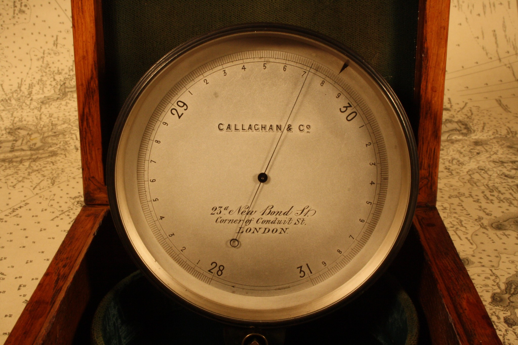 Image of Callaghan Chart Table Marine Barometer
