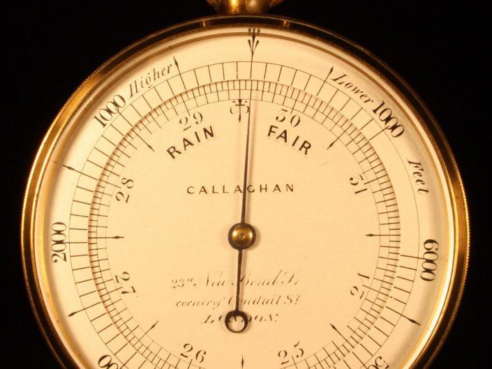 POCKET BAROMETER ALTIMETER BY CALLAGHAN c1867