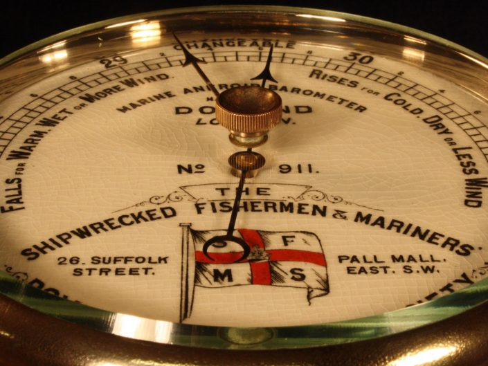 PRESENTATION MARINE BAROMETER BY DOLLOND c1917 - Sold