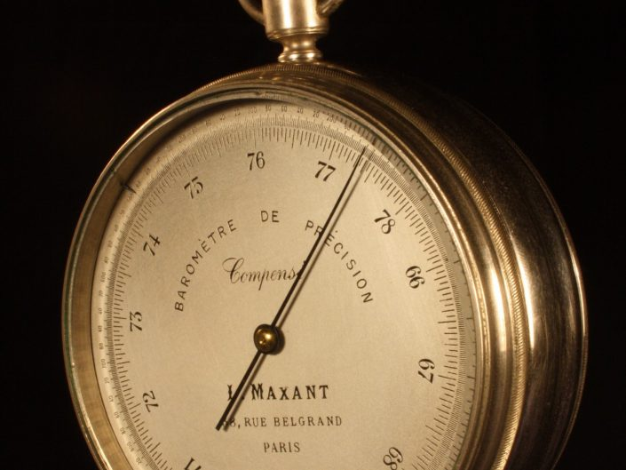 PRECISION ANEROID BAROMETER BY MAXANT c1905