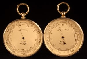 Image of Ross Mountain Barometer Altimeters, Imperial (l) & Metric (r)