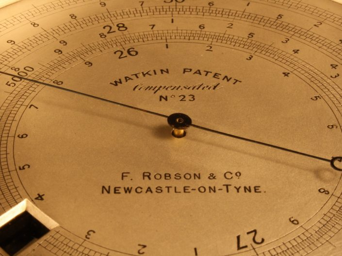 WATKIN PATENT EXTENDED SCALE BAROMETER ALTIMETER BY HICKS No 23 c1886