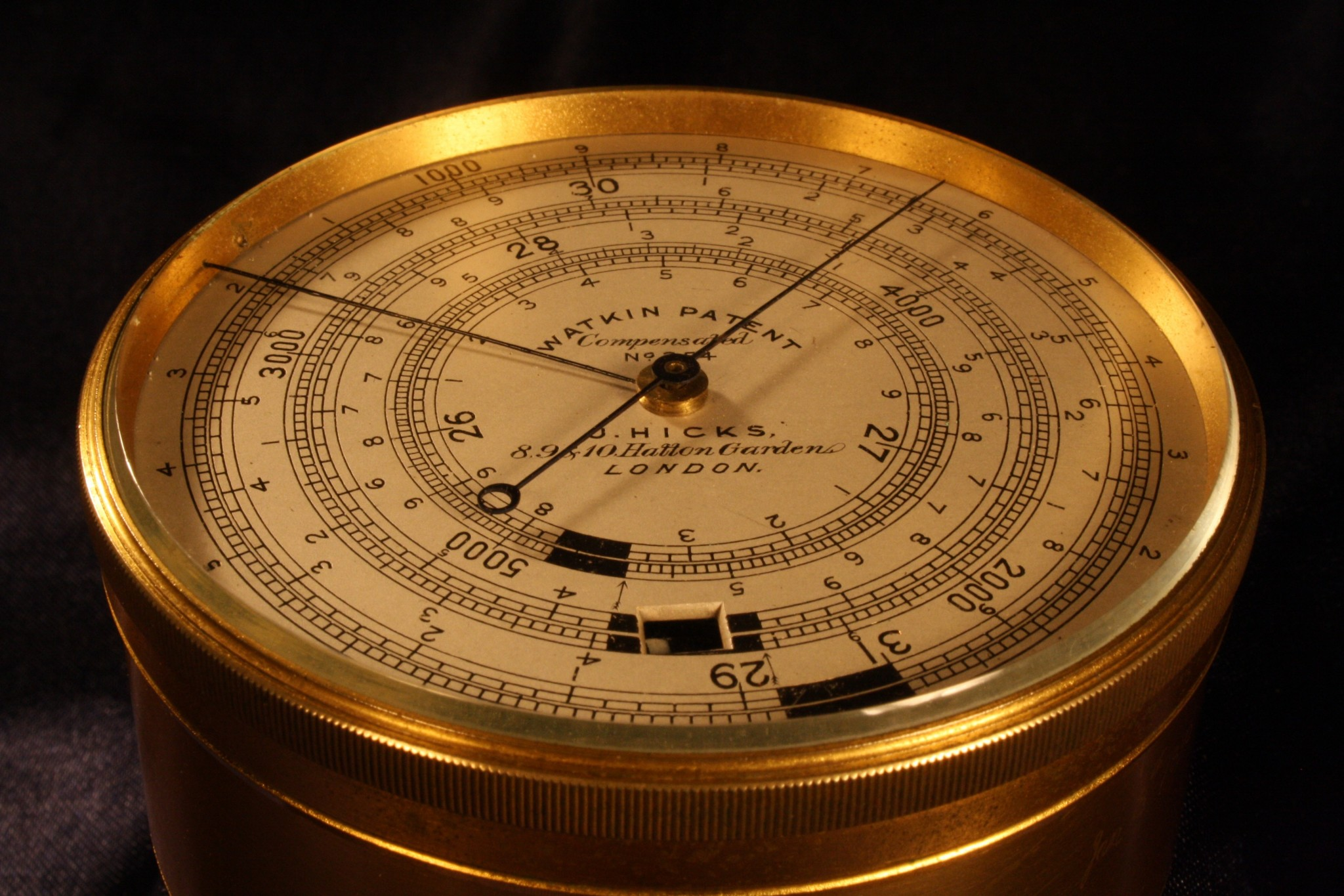 Image of Watkin Patent Altimeter by Hicks No 354