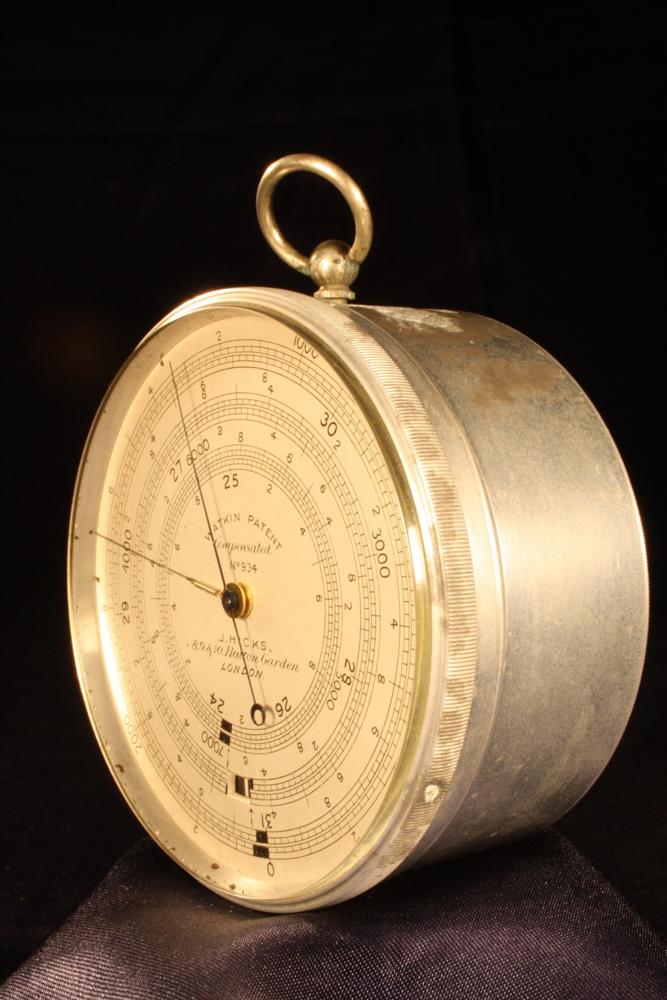 Image of Watkin Patent Altimeter by Hicks No 934
