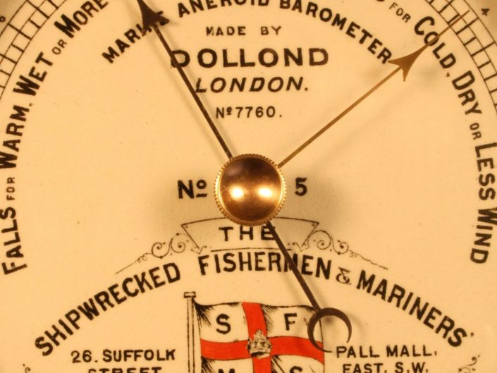 SHIPWRECKED MARINERS SOCIETY MARINE BAROMETER BY DOLLOND c1895 - Sold