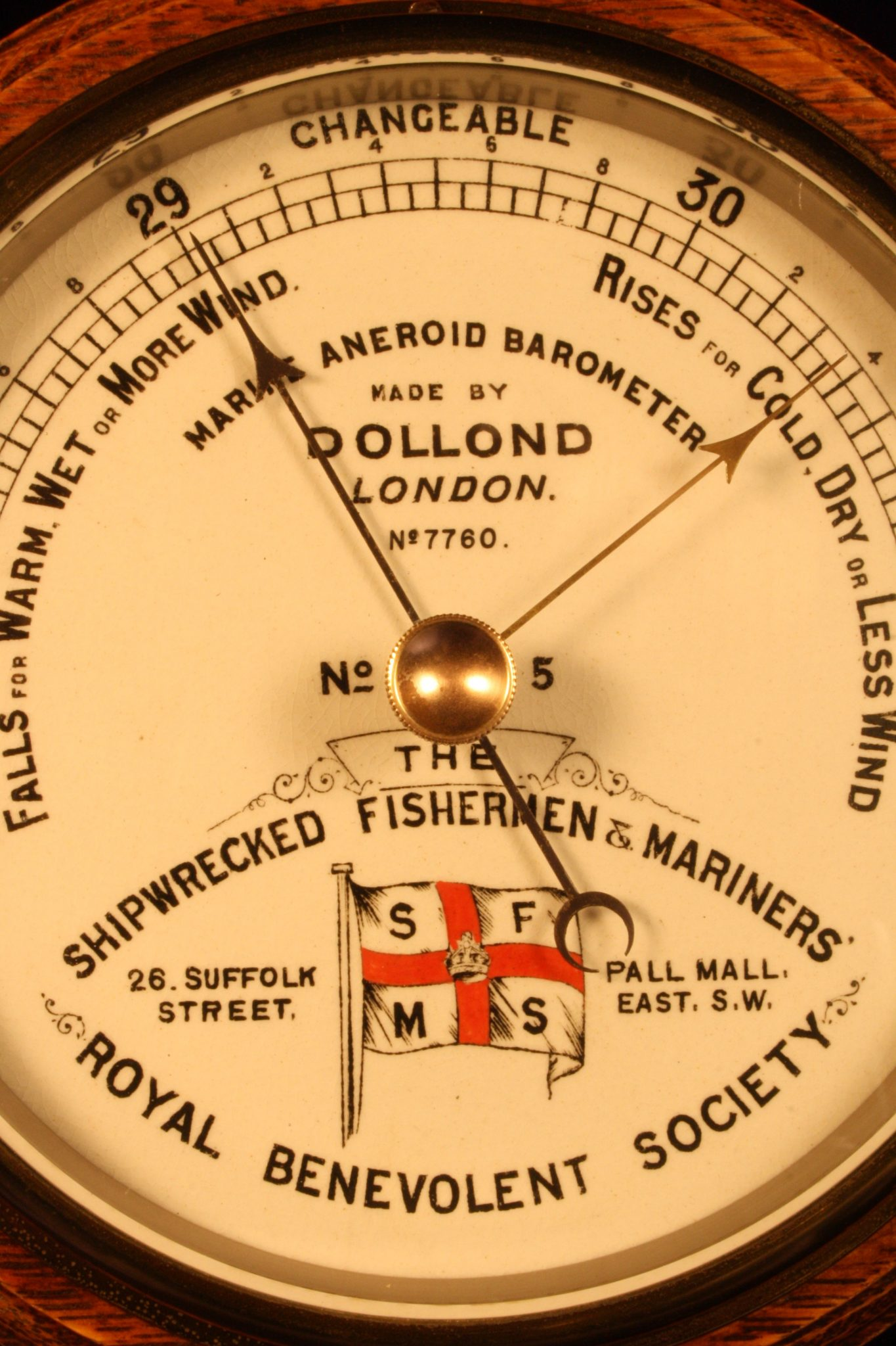 how to set royal mariner victory barometer