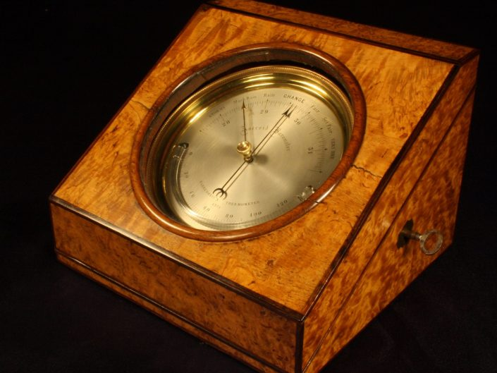 DESK BAROMETER ATTRIBUTED TO LUCIEN VIDI No 4275 c1848