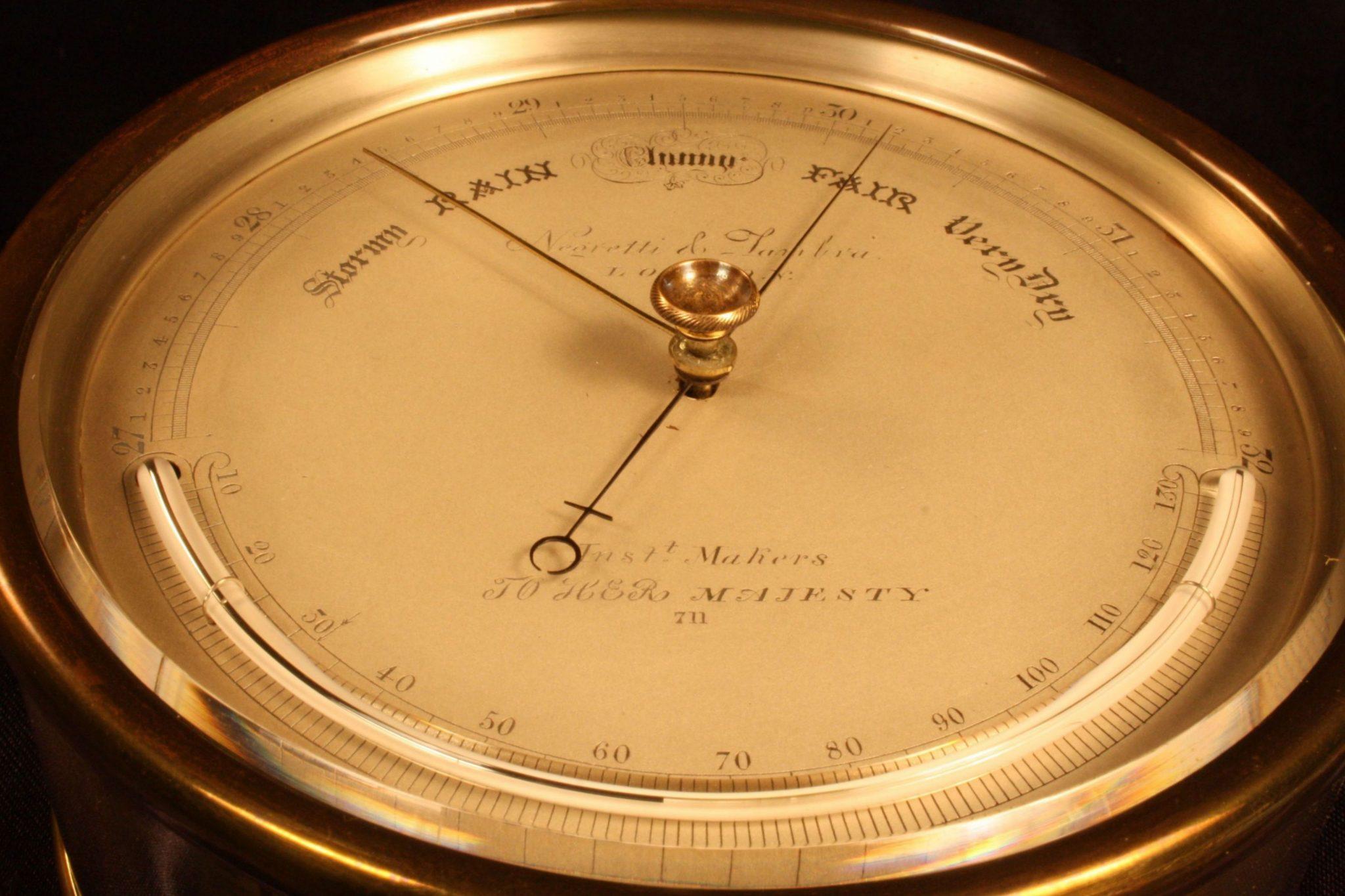 Image of Negretti & Zambra Barometer No 711 c1858