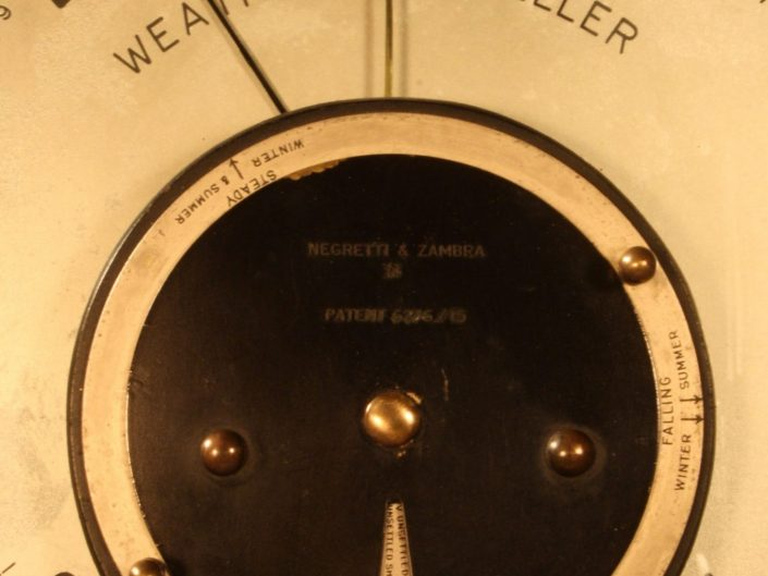 WEATHER FORETELLER BAROMETER BY NEGRETTI & ZAMBRA c1920
