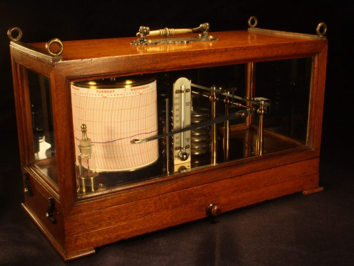 MARINE BAROGRAPH BY RICHARD FRERES c1885