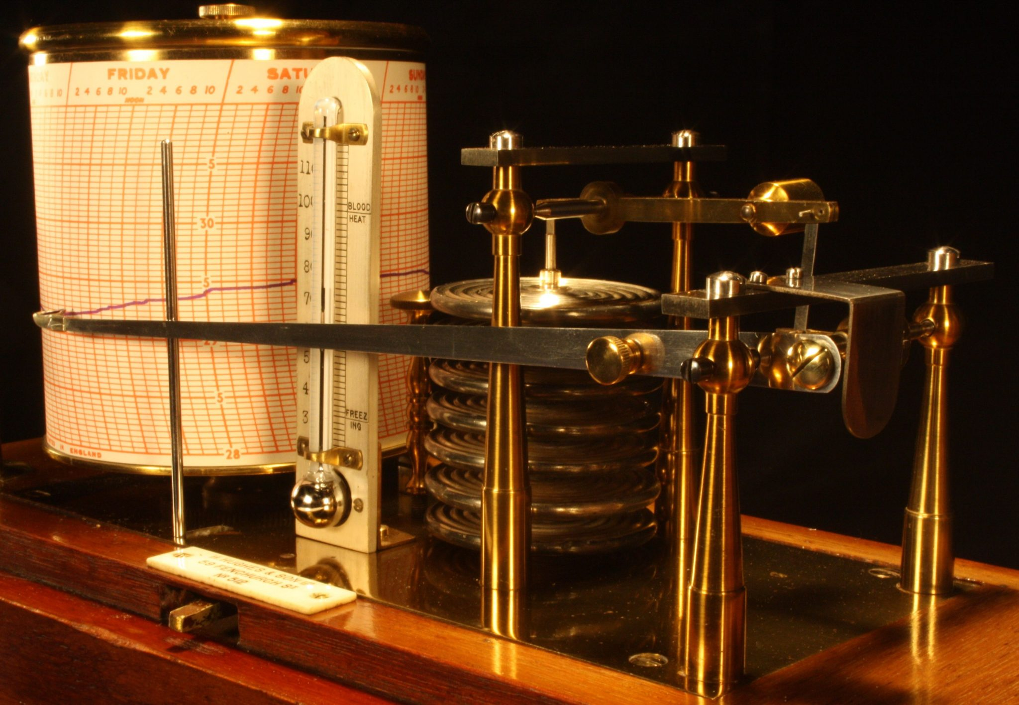 Image of Richard Freres Barograph Retailed by Hughes