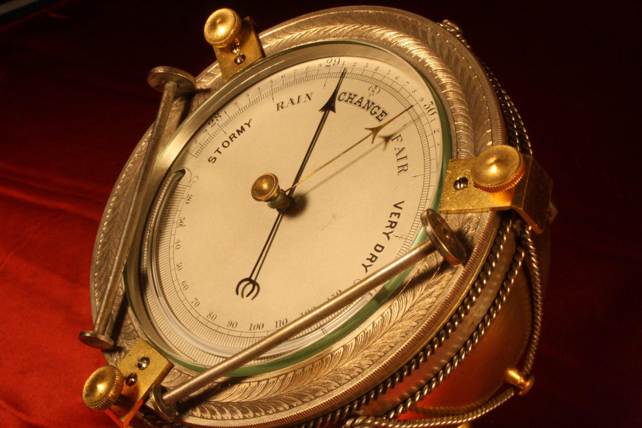Image of Timpani Desk Barometer by Betjemann c1870