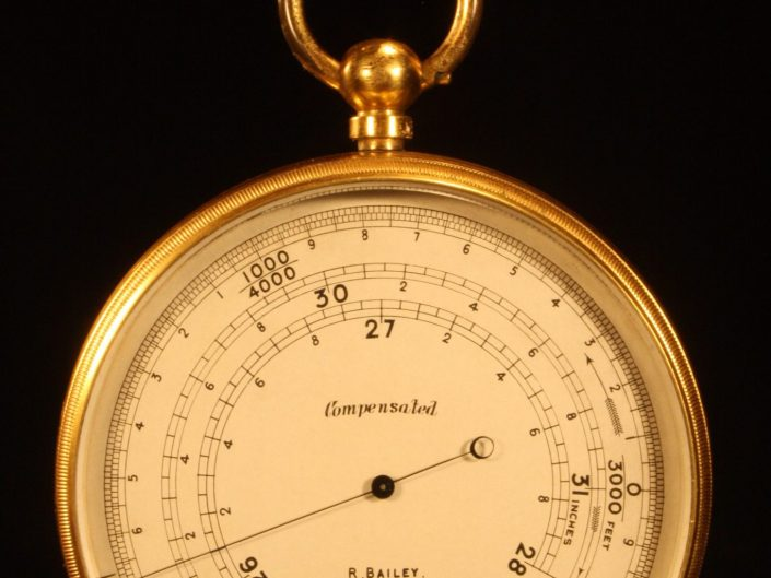 UNUSUAL POCKET BAROMETRIC ALTIMETER RETAILED BY BAILEY c1909