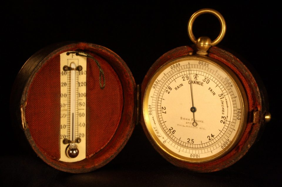 Pocket Barometer Thermometer Compass Compendium By