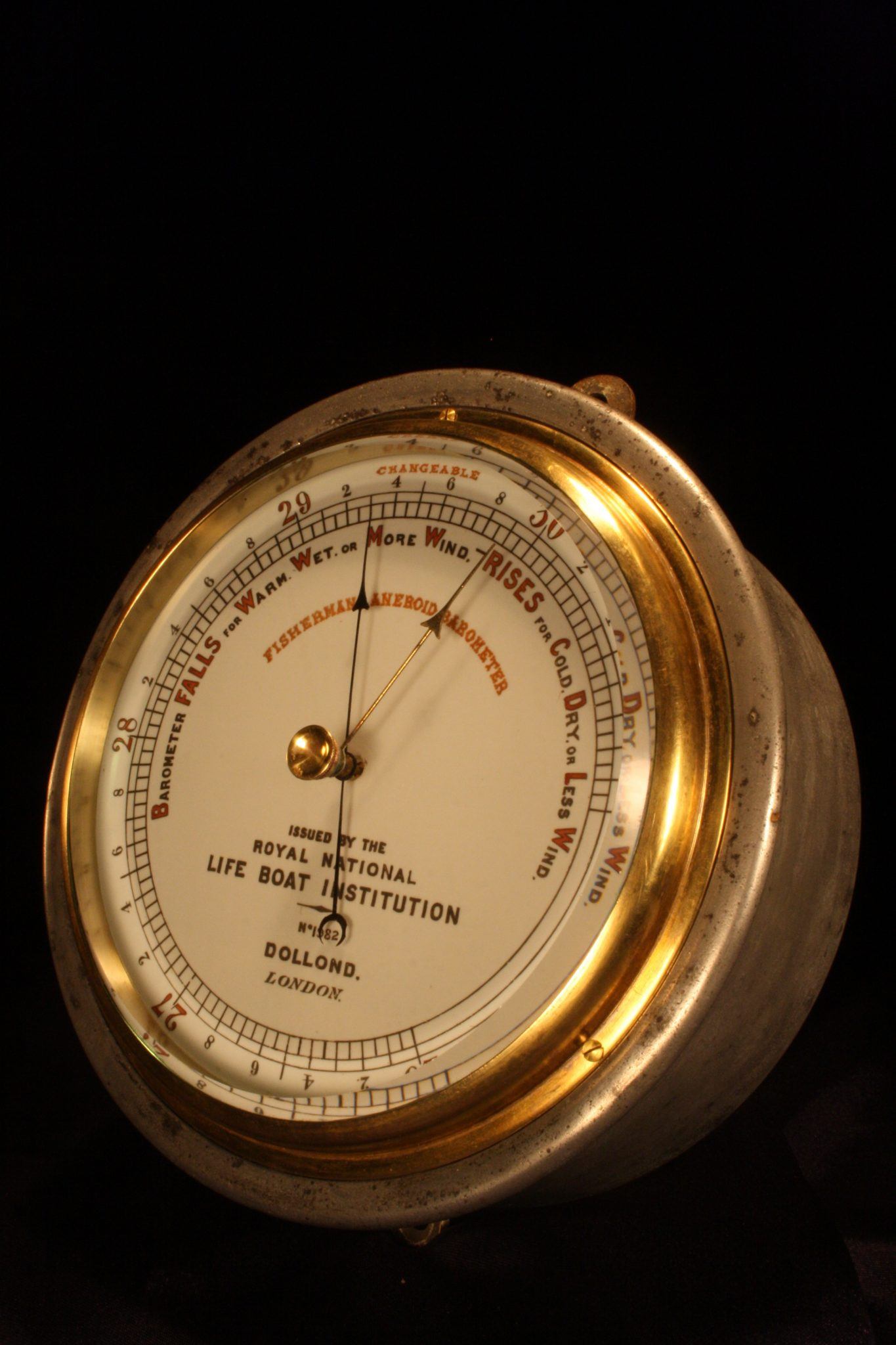 Image of Dollond RNLI Fishermans Marine Barometer No 1982