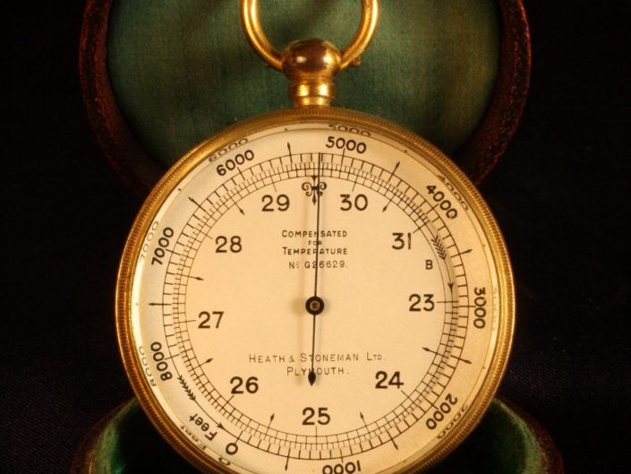 ANTIQUE POCKET BAROMETER BY SHORT & MASON c1920