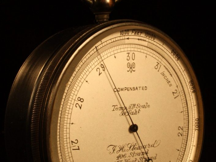 POCKET BAROMETER ALTIMETER BY STEWARD No 5562 c1887