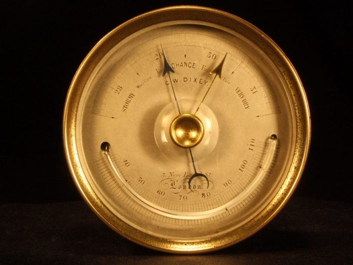 VERY EARLY POCKET BAROMETER BY NEGRETTI & ZAMBRA c1860 - Sold