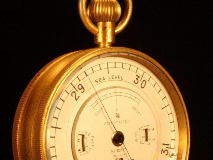 WEATHER WATCH POCKET BAROMETER BY NEGRETTI & ZAMBRA No 30897 c1915 - Sold
