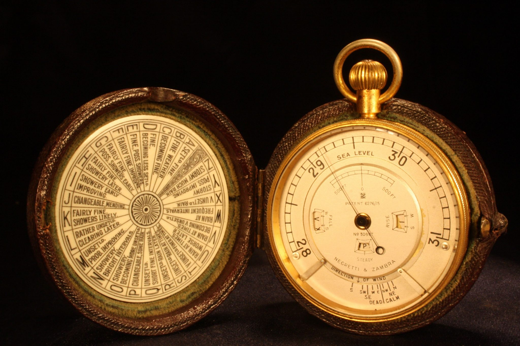 Image of Negretti & Zambra Pocket Barometer Weather Watch