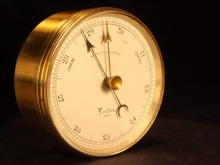EARLY POCKET BAROMETER BY NEGRETTI & ZAMBRA c1860