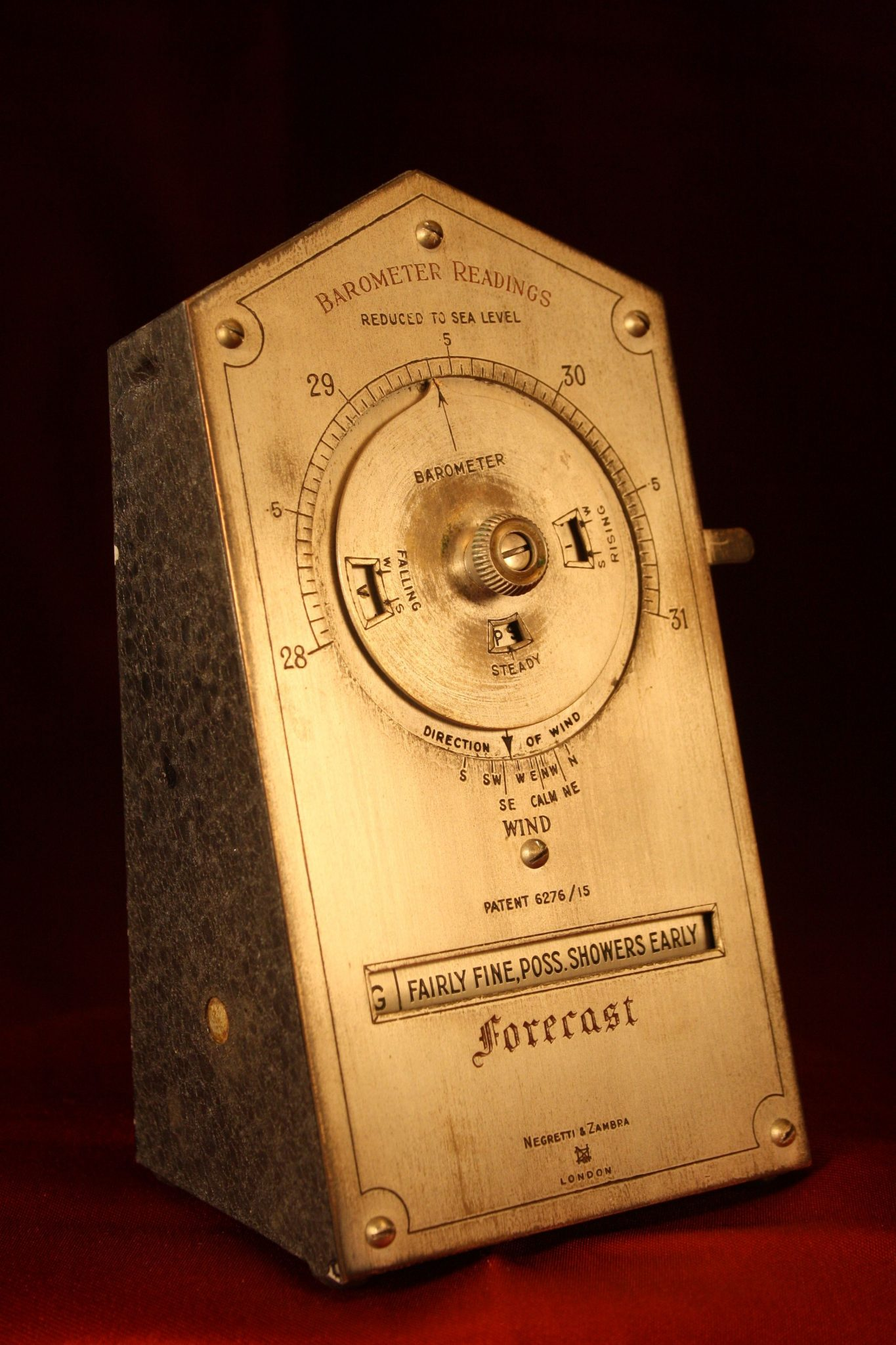 Image of Negretti & Zambra Desk Weather Forecaster c1915