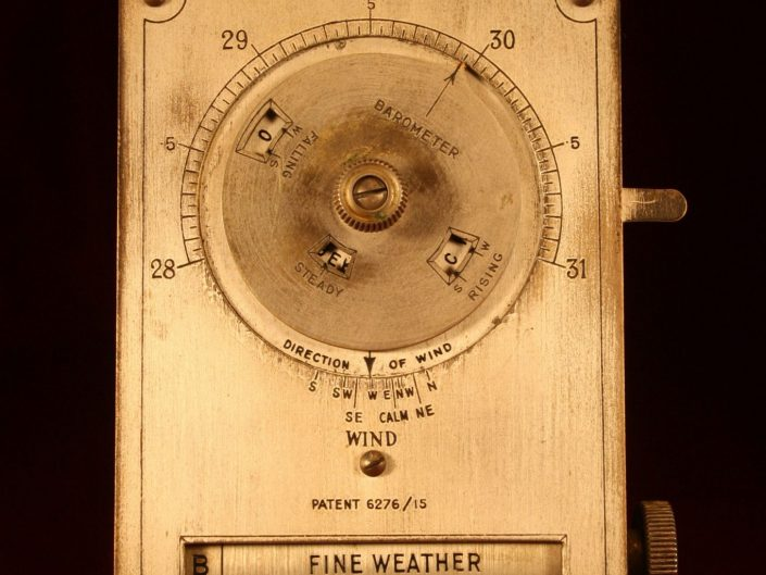 DESK WEATHER FORECASTER BY NEGRETTI & ZAMBRA c1915