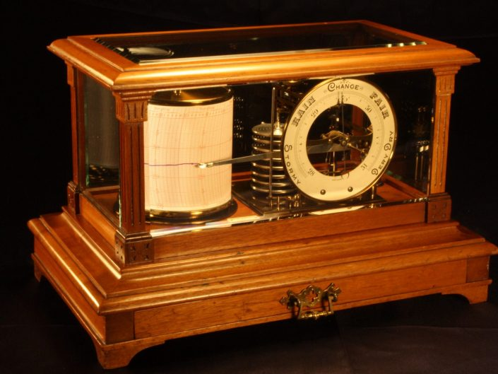 DRUM BAROGRAPH & BAROMETER BY SHORT & MASON c1910 - Sold