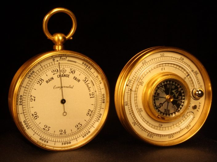 SHORT & MASON BAROMETER COMPASS THERMOMETER COMPENDIUM c1920 - Sold