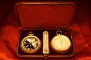 Image of Negretti & Zambra Barometer Compass Thermometer Compendium c1890