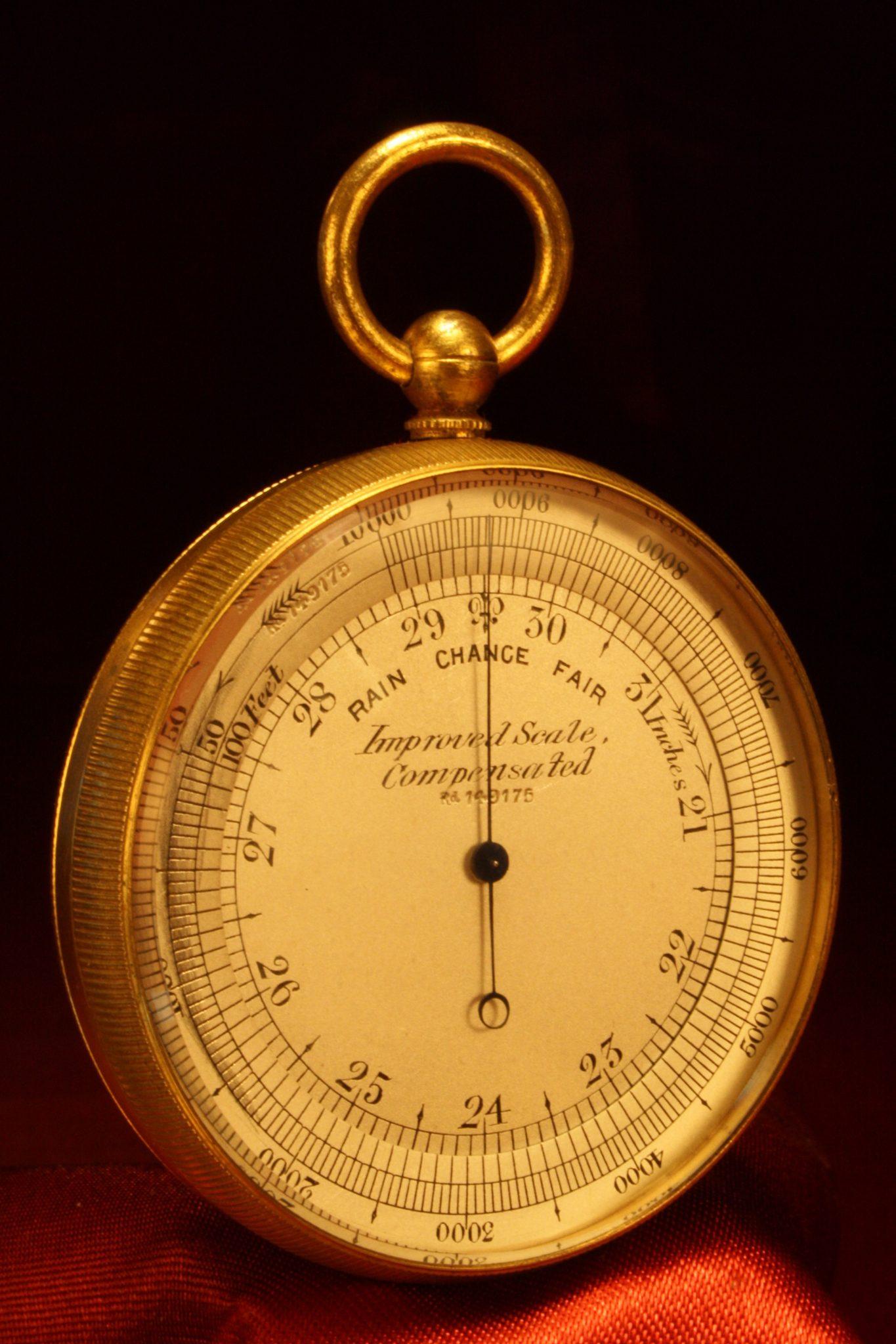 Image of Negretti & Zambra Barometer Compass Thermometer Compendium c1900
