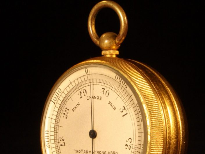 POCKET BAROMETER ALTIMETER BY ARMSTRONG & BRO c1875