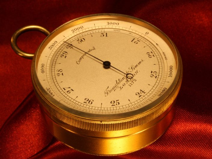 TROUGHTON & SIMMS POCKET BAROMETER No 1172 c1870