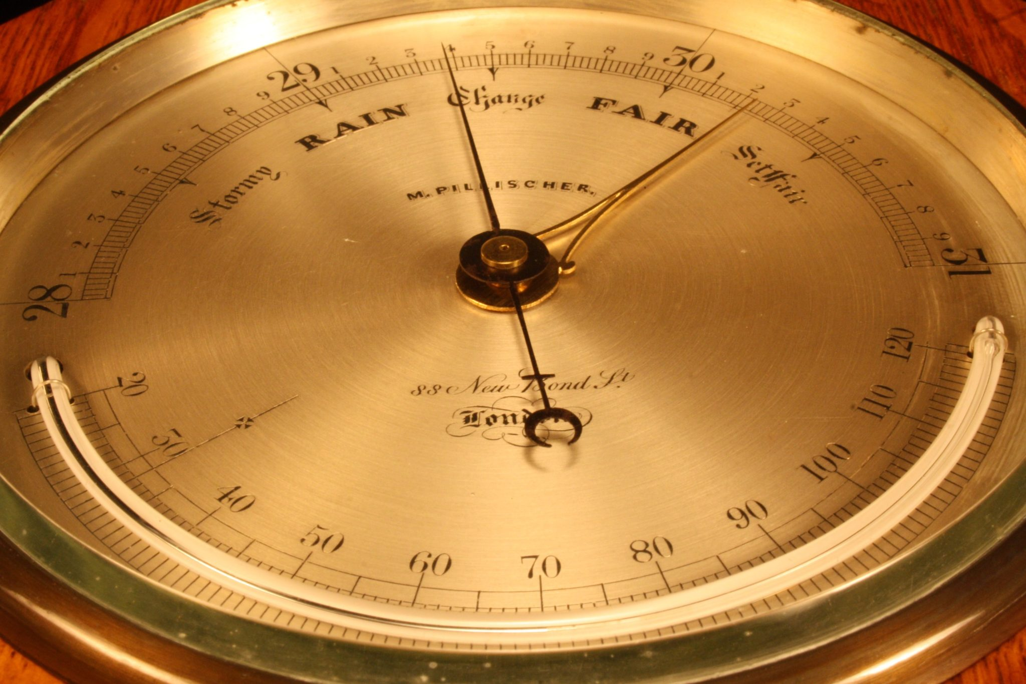 Image of Antique Aneroid Barometer by Pillischer