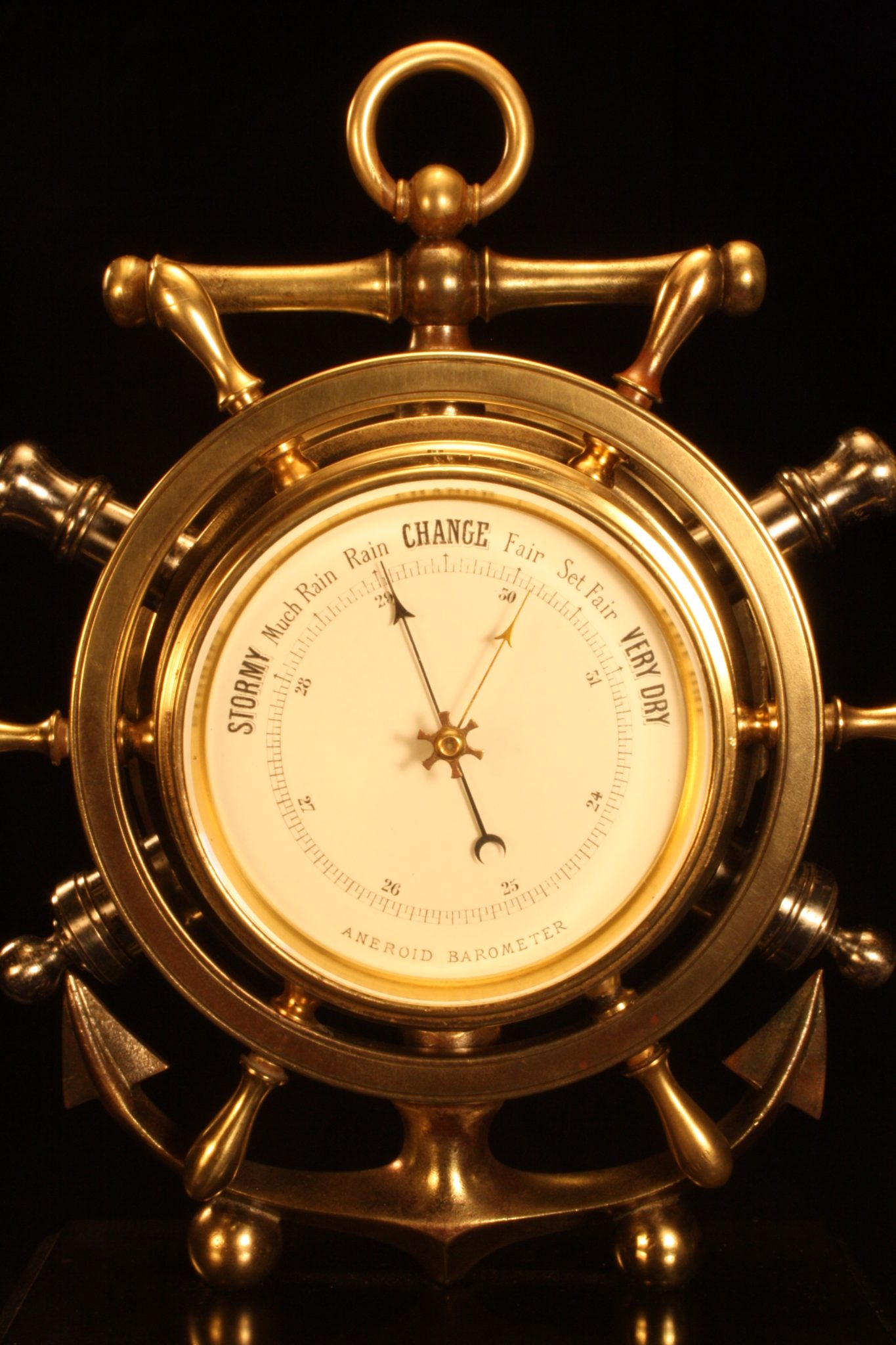 Image of French Industrial Series Ships Wheel Barometer