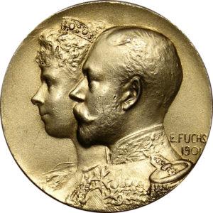 Image of Duke of York Silver Medallion by Emil Fuchs