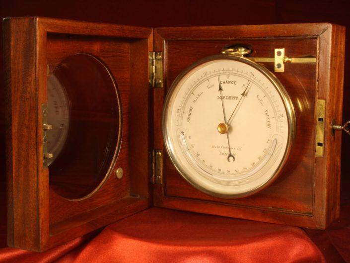 ANTIQUE DESK BAROMETER BY MF DENT c1865 - Sold
