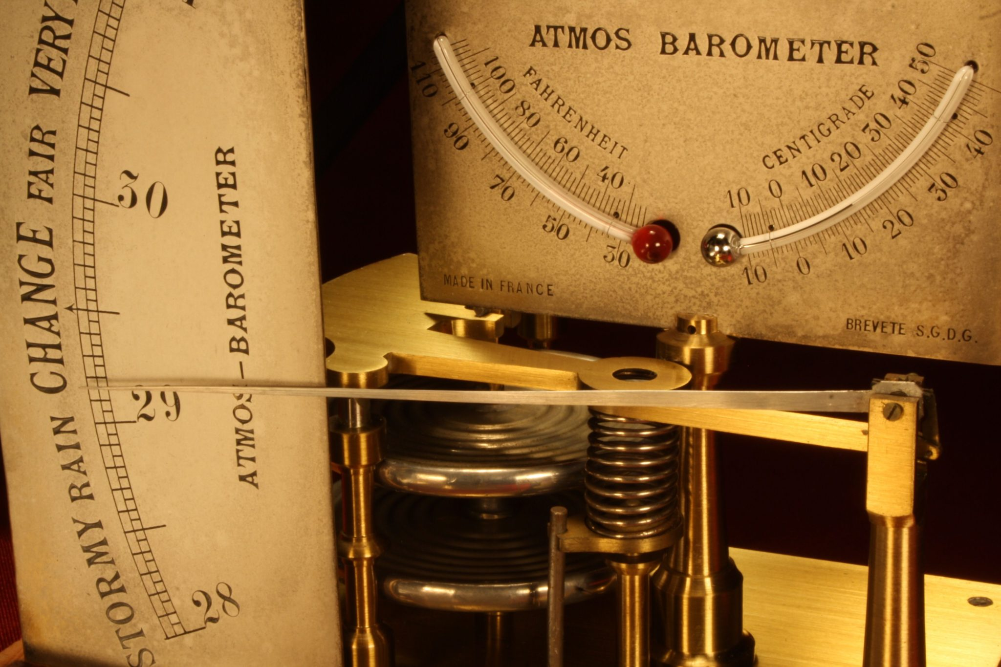 Image of French Atmos Barometer c1875